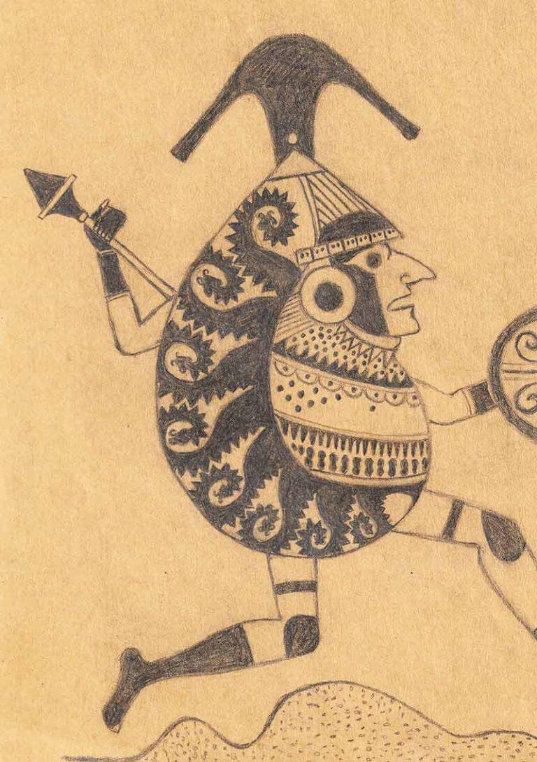 Study of Moche Warrior
